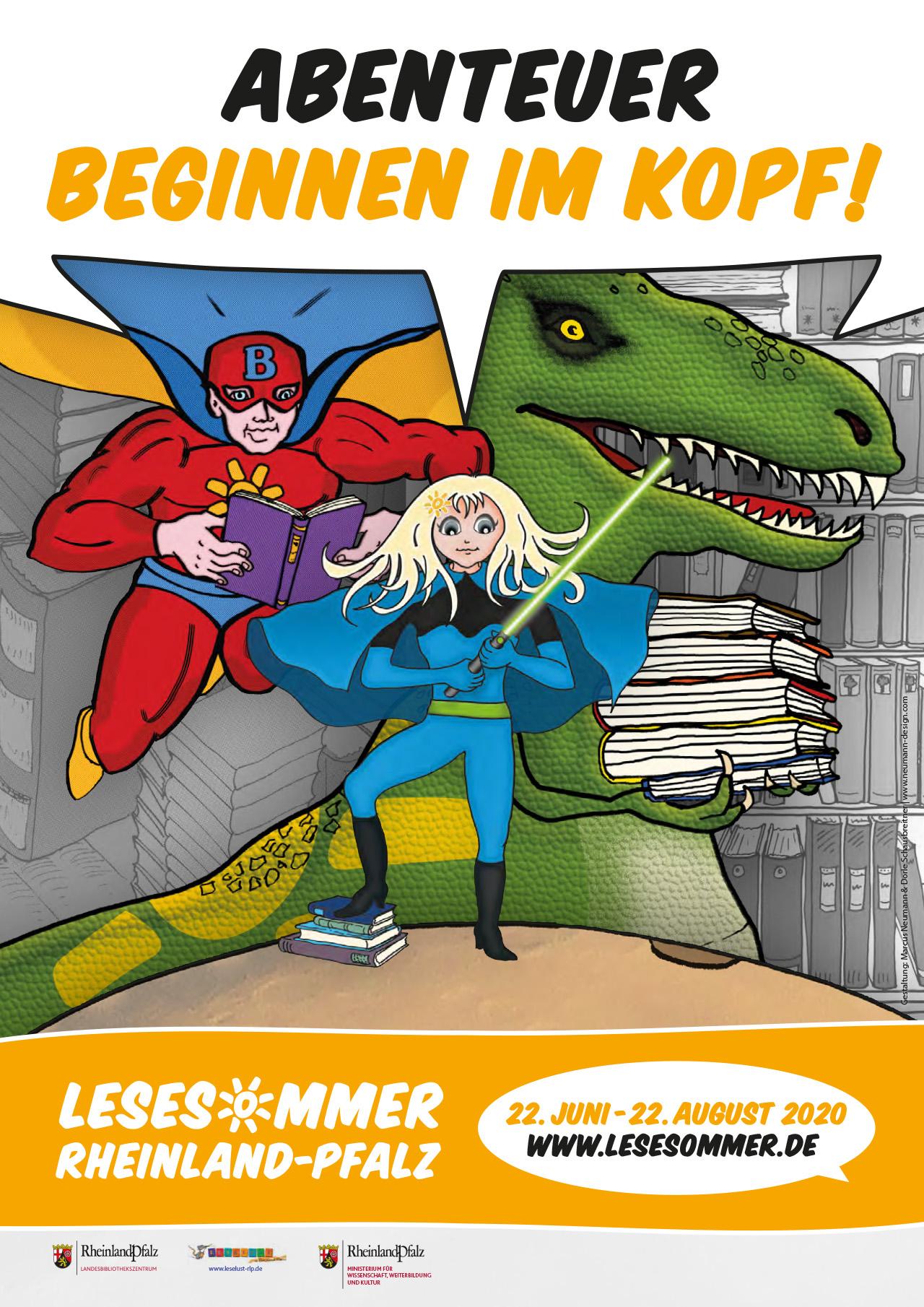 Plakat Lesesommer Rheinland-Pfalz 2020